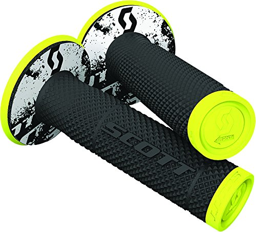 Scott Sx2 Tattoo 2 Off-Road Hand Grips - Black/Neon Yellow/One Size