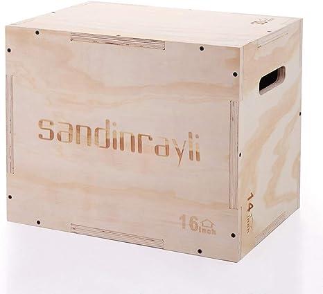 LAZYMOON 3 en 1 Caja de Madera Plyo de 50,8 x 35,56 x 40,64 cm Crossfit Plyometrics Jumping Trainer Box Plataforma: Amazon.es: Deportes y aire libre