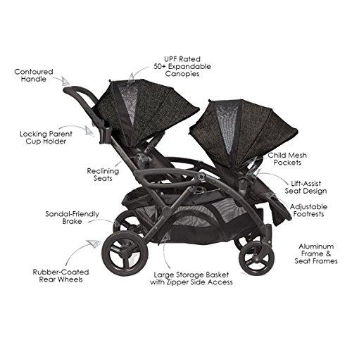 Contours Options Elite Tandem Double Stroller, Carbon by Contours (Image #1)
