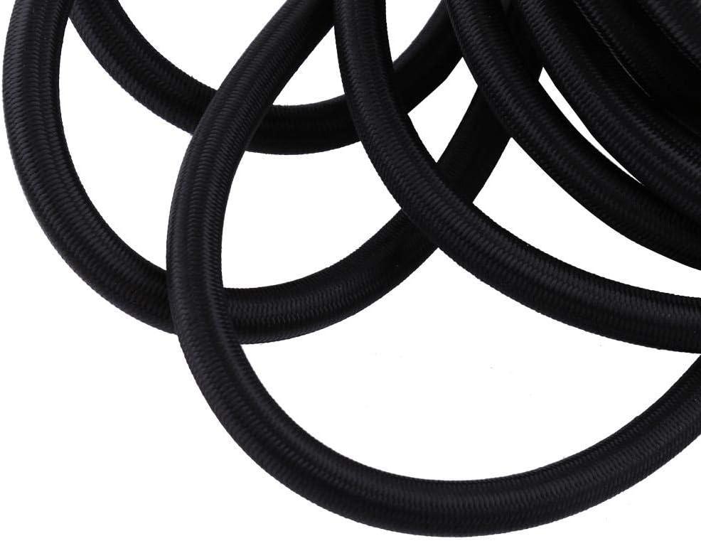 Corde de choc /élastique en corde /élastique forte noire 10 m/ètres de corde de choc /élastique en corde /élastique Black 5mm cha/îne extensible robuste pour ext/érieur