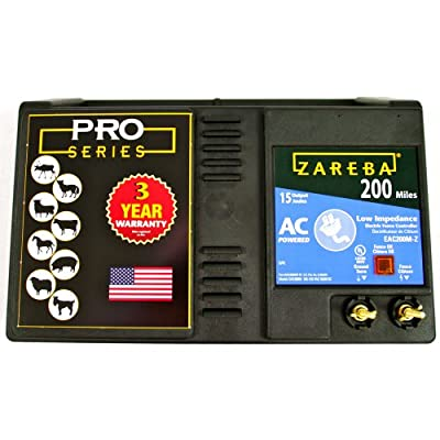 Zareba EAC200M-Z AC-Powered Low-Impedance 200-Mile-Range Charger