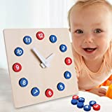 Goodqueen Toys Activity Clock Child Time Cognitive Aids