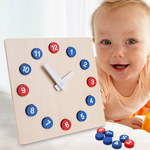 Goodqueen Toys Activity Clock Child Time Cognitive Aids by Goodqueen