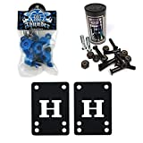 Thunder Skateboard Bushings 95a Conical Blue + H Block Risers 1'' Hardware