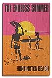 Huntington Beach, California - The Endless Summer - Original Movie Poster (10x15 Wood Wall Sign, Wall Decor Ready to Hang)