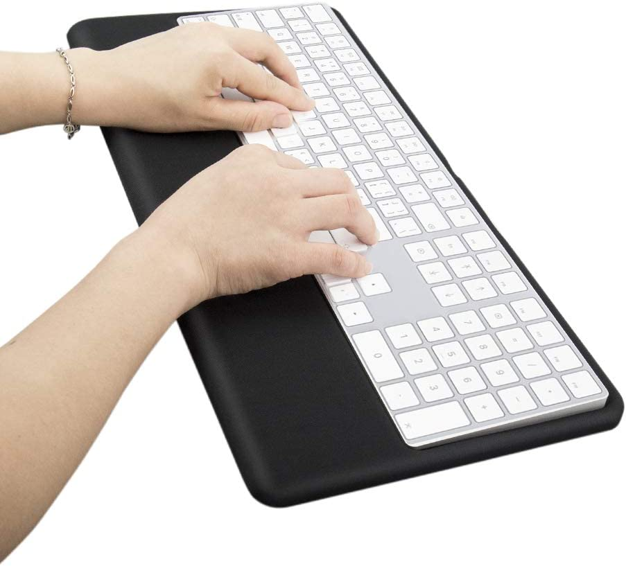 Magic Keyboard Wrist Rest Ergonomic Keyboard Stand Compatible with Wireless Magic Keyboard 2 with Numeric Keypad (Black Silicone)…