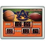 Auburn Tigers Scoreboard Clock / Therm- 14'' x 19''