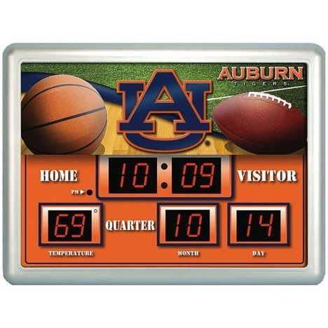 Team Scoreboard Sports Collegiate (Auburn Tigers Scoreboard Clock / Therm- 14