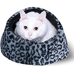 Best Cat Cave House and Kitty Bed, Extremely Cozy and Warm Mat (Grey)