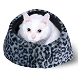 Best Cat Cave House and Kitty Bed - Extremely Cozy and Warm Mat (Grey)