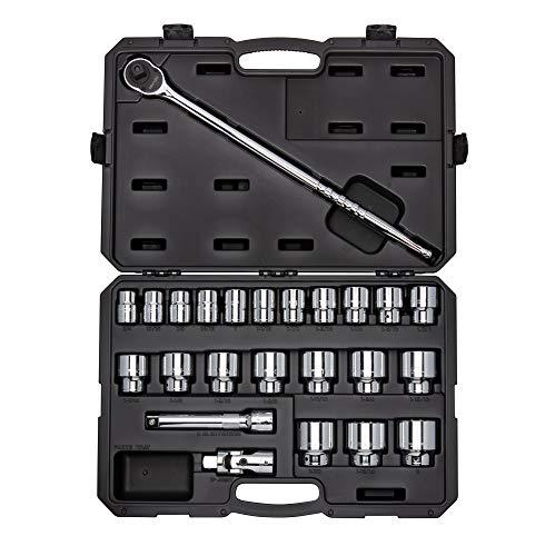 - TEKTON 3/4 Inch Drive 6-Point Socket & Ratchet Set, 25-Piece (3/4-2 in.)   SKT35104