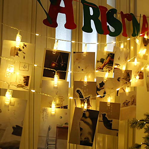JMTGNSEP azproduct 40led 20clips Upgraded Picture Clip Lights, Beautiful Gifts and Memories, DIY Shapes,Ambiance…