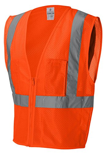 ML Kishigo 1086 Ultra-Cool Polyester Mesh 3 Pocket Vest, Medium, Orange