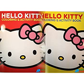 hello kitty coloring book set 2 books 96 pages - Hello Kitty Coloring Book