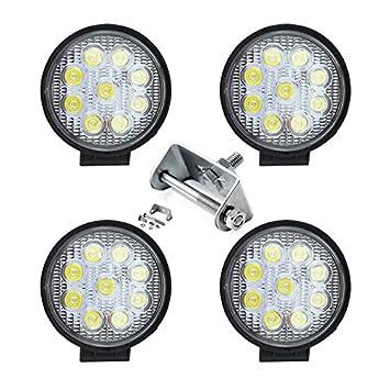 Hengda 4x27W Ronda Faros de trabajo led Foco Luz Offroad Focos de Coche LED Luces antiniebla