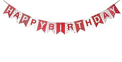 Amazon.com: brcohco Feliz cumpleaños punto Banner Bunting ...