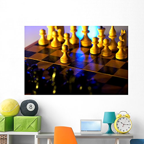 Chess Game Wall Mural by Wallmonkeys Peel and Stick Graphic (60 in W x 40 in H) WM226000