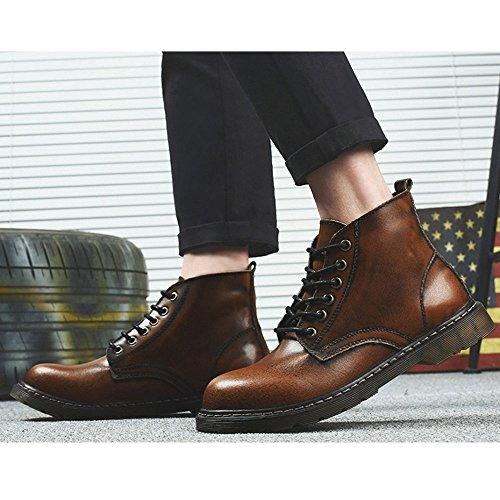 Coreano Chelsea Stivali Bassi da Stivali Brown Lavoro Inverno Martin Uomo Stivali da da Moda Stivali Stivali Autunno OdTw6Zcq
