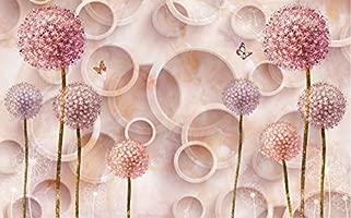 Wanghan 3d Wallpaper European Aesthetic Marble Circle Dandelion