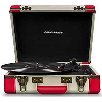 Crosley CR6019D-RE Executive Portable USB Turntable with Bluetooth, Red