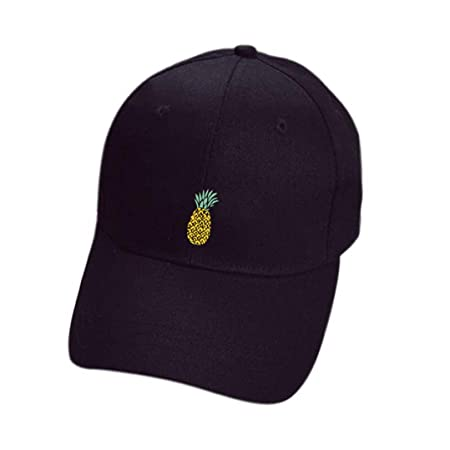Gorras beisbol,Zarupeng Sombreros de piña unisex Gorra de béisbol ajustable Hip-Hop Gorra de béisbol informal (Negro): Amazon.es: Deportes y aire libre