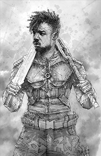 N'Jadaka, Challenger to the Throne Giclee print of Pencil Drawing of Killmonger