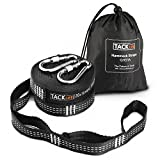 Hammock Straps, 24 Ft Total Heavy Duty 1500+ LBS XL Hammock Tree Straps with 40 Loops 2 Carabiners, Carrying Bag -Tacklife GHS1A Inelastic Suspension System Sets of Equipment Suitable for all Hammock