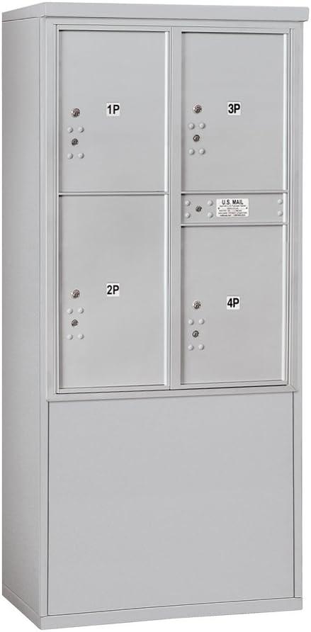 Salsbury Industries 3911d 4pafu Double Column 3 Pl5 S 1 Pl6 Usps Access Free Horizontal 4c Stand Alone Parcel Locker Mailbox Aluminum Amazon Com