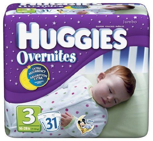 Huggies Overnites Diapers, Size 3, 31-Count Packages (Pac...