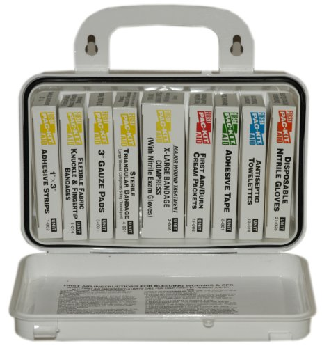Pac-Kit by First Aid Only 5011 10 Unit First Aid Kit with Weatherproof Plastic Case Kit 10 Unit