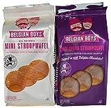 Belgian Boys Mini Stroopwafel Snack Cookie Wafers