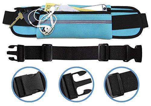 Cheap Running Belt Waist Pack, Adjustable Fanny Pack for Runners, Hands Free Workout, Waist Bag for Men & Women, Running Pouch – for Running, Jogging & Fitness – Blue