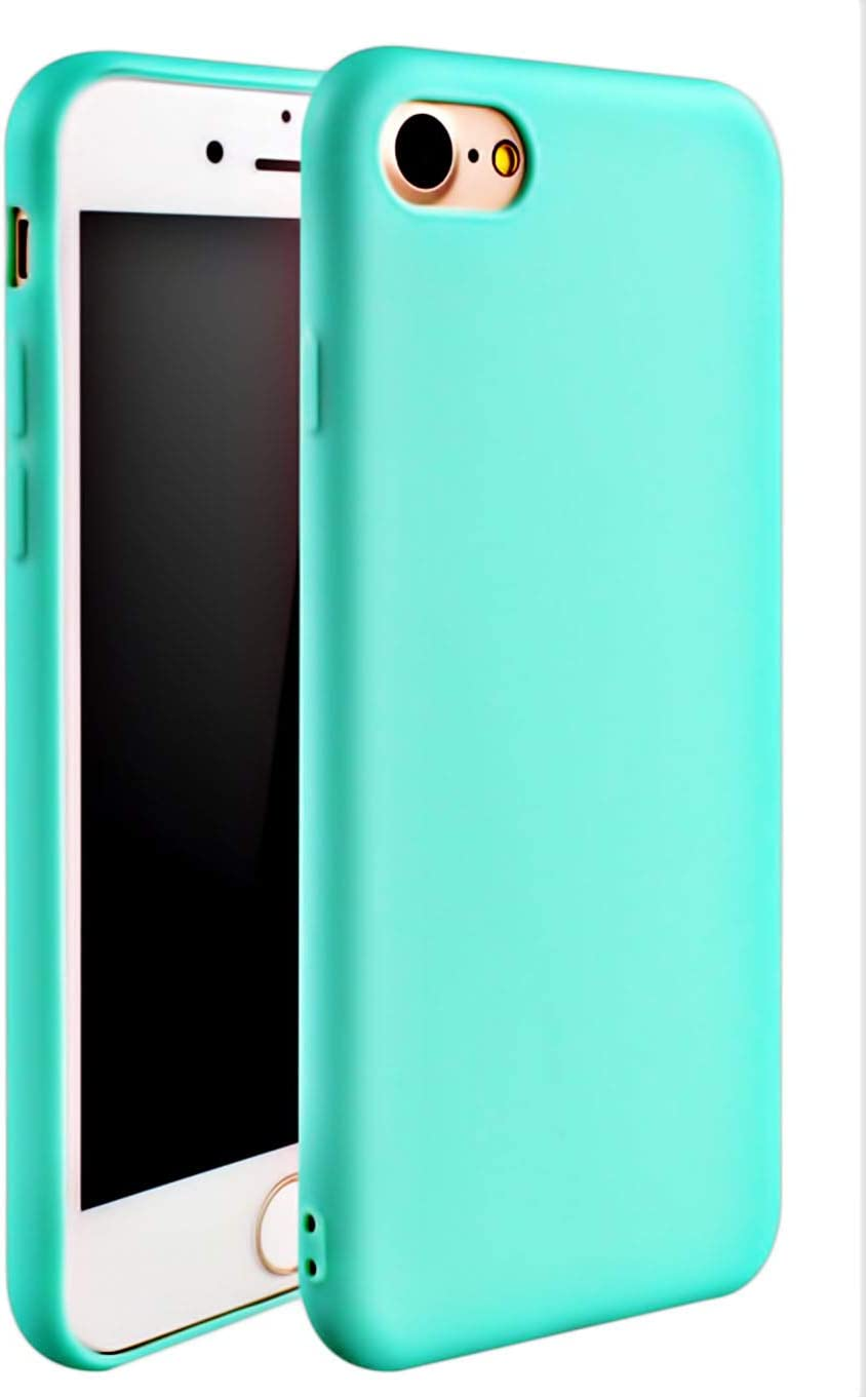 Compatible with with iPhone 7/8 Case, iPhone SE 2020 Case,iPhone 8 Case,[Ultra-Thin] & [Soft Touch] Slim Fit Shell TPU Full Protective AntiScratch Resistant Cover Case for iPhone 7 or iPhone 8 - Teal