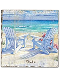 Buy Counter Art CART11933 Beachview Single Tumbled Tile Coaster deal