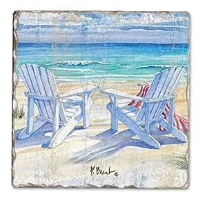 Counter Art CART11933 Beachview Single Tumbled Tile Coaster