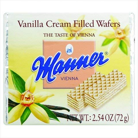 - Manner Wafers Vanilla Cream Cookies, Premium Wafers Generously Stuffed with Rich, Creamy Filling, 2.54 Oz (Case of 12)