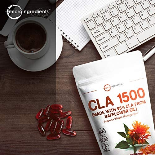 Maximum Strength CLA Supplements CLA 1500mg Per Serving , 300 Softgels, with Conjugated Linoleic Acid, Natural Weight Loss and Fat Burn Support, No GMOs