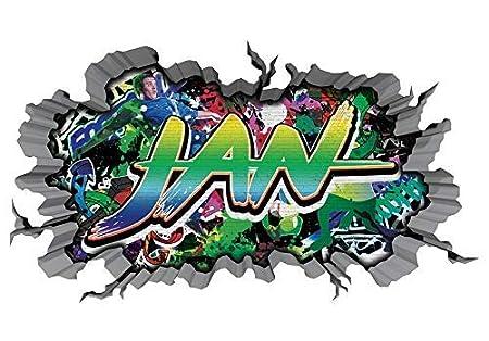 3D Pegatina Pared Graffiti Pared Adhesivo Nombre Jan Brecha ...