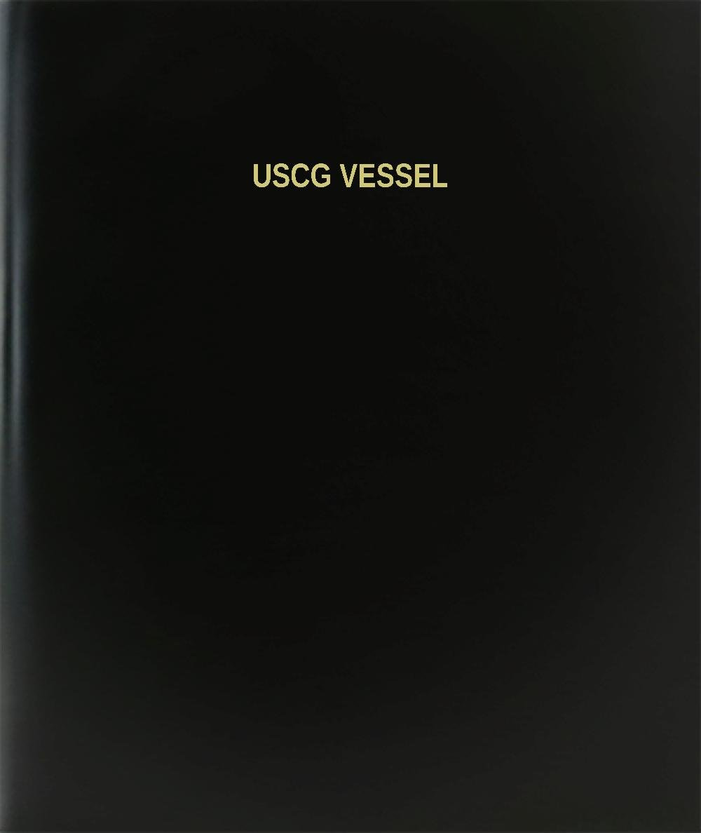 BookFactory® Uscg Vessel Log Book / Journal / Logbook - 120 Page, 8.5''x11'', Black Hardbound (XLog-120-7CS-A-L-Black(Uscg Vessel Log Book))