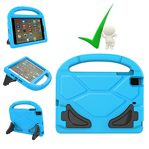 iPad mini Case, iPad mini 4 Case, Kids covers Friendly Light Weight EVA Foam Kid-Proof Drop-Proof Tablet Holder Cover with Carrying Handel Universal for Apple iPad mini, mini 2, mini 3 and mini 4-Blue