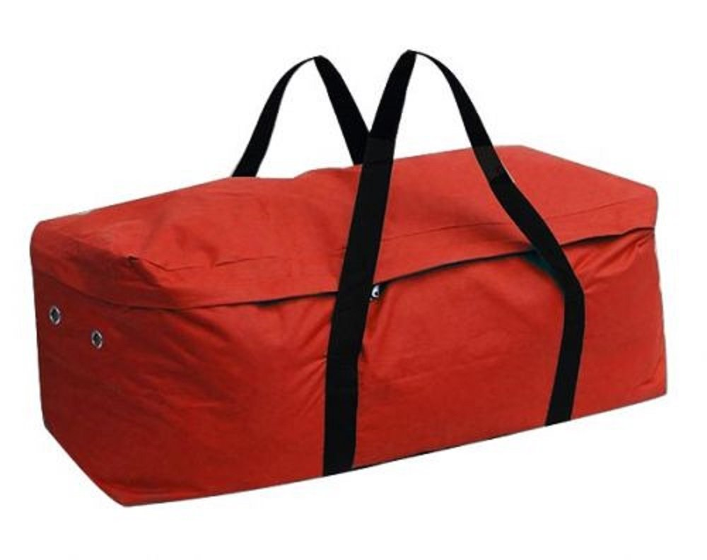 Showman RED Water Resistant Average 39'' Long Hay Bale Bag Nylon Carrier