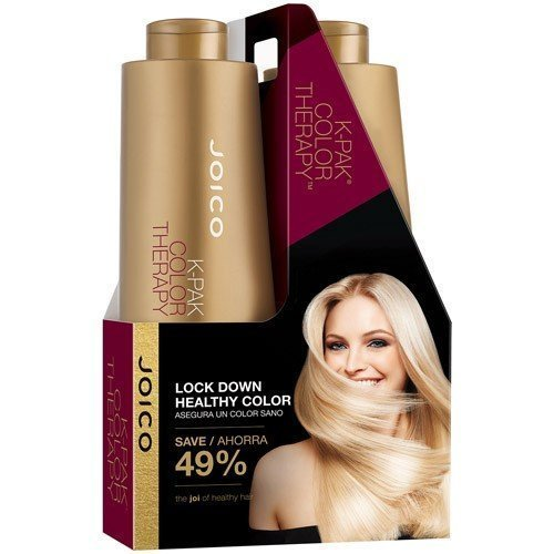 Joico K Pak Color Therapy Shampoo and Conditioner Liter Size Duo, 1 L/33.8 fl. oz. 798813018939