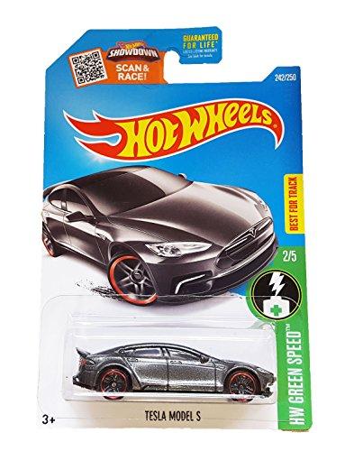 Hot Wheels, 2016 HW Green Speed, Tesla Model S [Dark Gray] #242/250 (Tesla Model Car compare prices)