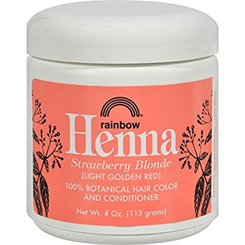 Rainbow Research Henna Hair Color and Conditioner Persian Strawberry Blonde- 4 oz - 100% Botanical Hair Color - Gently coats the hair shaft with 100% organic color