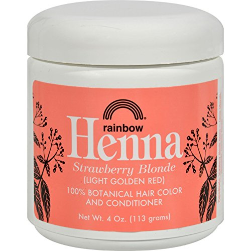 Persian Strawberry (Rainbow Research Henna Hair Color and Conditioner Persian Strawberry Blonde- 4 oz - 100% Botanical Hair Color - Gently coats the hair shaft with 100% organic color)