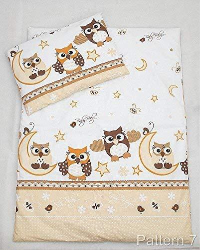 2PCS Betten Fällen Set–Bettbezug & Kissenbezug, passt ca. 70x 80cm Kinderbett, Wiege, Kinderwagen