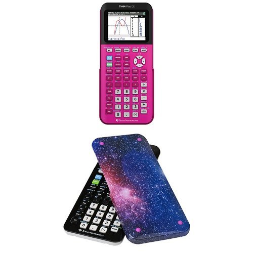 Texas Instruments TI-84 Plus CE Graphing Calculator With Guerrilla Hard Slide Case-Cover, Starburst