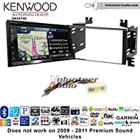 Volunteer Audio Kenwood DNX574S Double Din Radio Install Kit with GPS Navigation Apple CarPlay Android Auto Fits 2006-2008 Kia Accent, 2006-2011 Rio