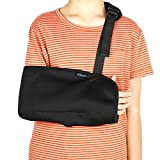 Child Arm Sling, Pediatric Adjustable Shoulder Support Strap for Broken, Fractured Wrist, Rotator Cuff Full Soft Immobilizer Fits Kids, Youth, Teens, Left or Right Arm