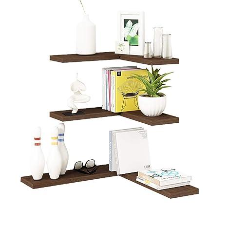 Amazoncom Bookshelf Solid Wood Wall Shelf Nordic Living